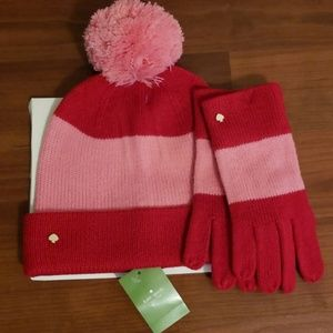 New w/ tags Kate Spade Hat & Gloves set